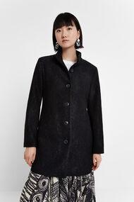 Manteau à boutonnage double et col montant