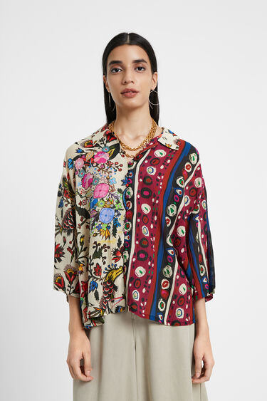 Bluse mit Patches | Desigual