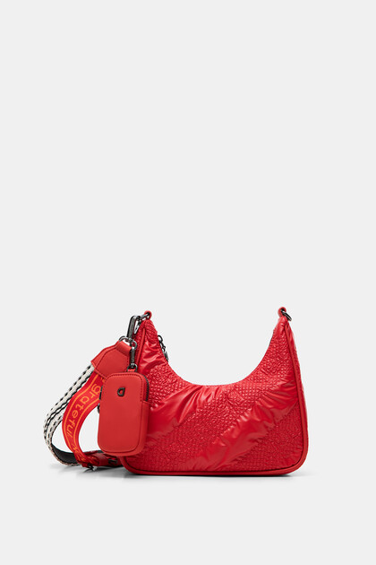 Padded half-moon bag
