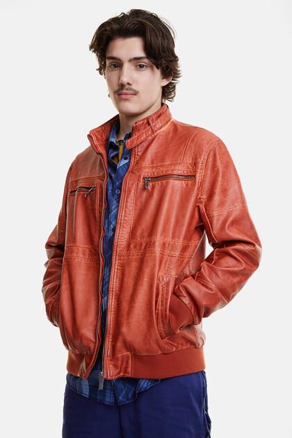 Padded biker jacket