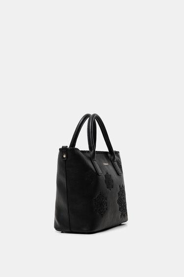 Double handle embossed bag | Desigual