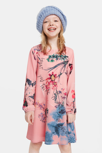 Robe trapèze fleurie