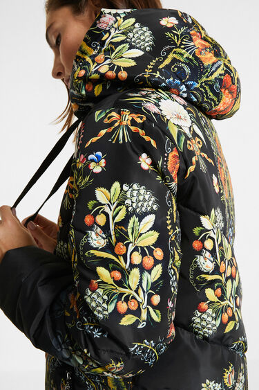 Loose embroidered and printed jacket | Desigual