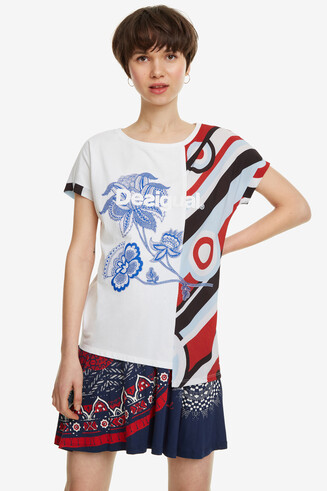 Two-Fabric Print T-shirt Brandall