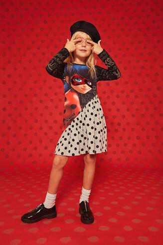 Vestito svasato Ladybug