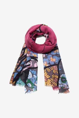 Boho floral foulard