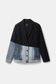 Hybride denim jack en blazer | Desigual