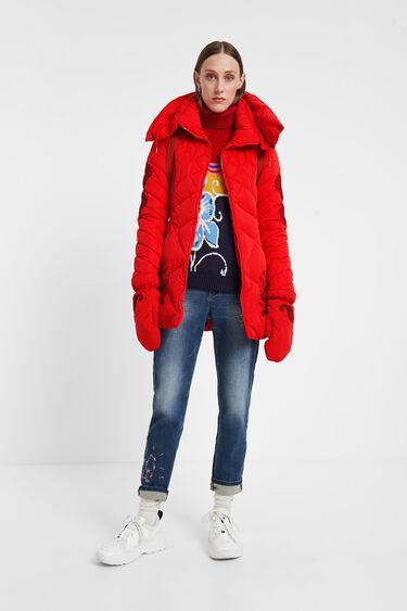 Gewatteerde jas met handschoenen | Desigual