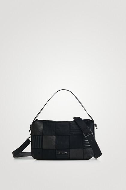 Rechthoekige handtas met diverse texturen