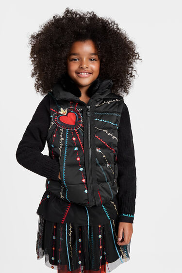 Two in one embroidered jacket | Desigual