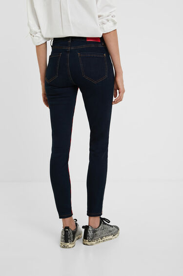 Pantalon en jean skinny tartan | Desigual