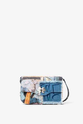 Denim comic bag