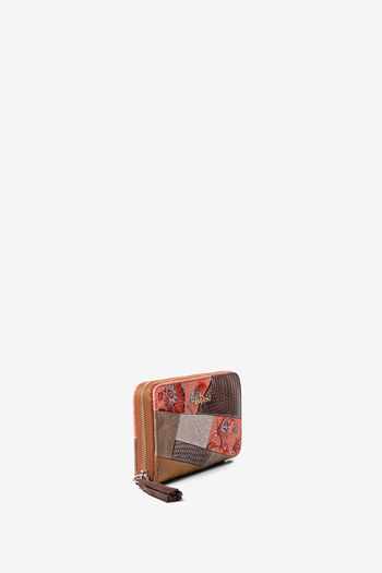 Boho coin wallet floral and artificial python patch | Desigual