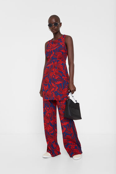 Kurzes Kleid mit Blumenmuster | Desigual
