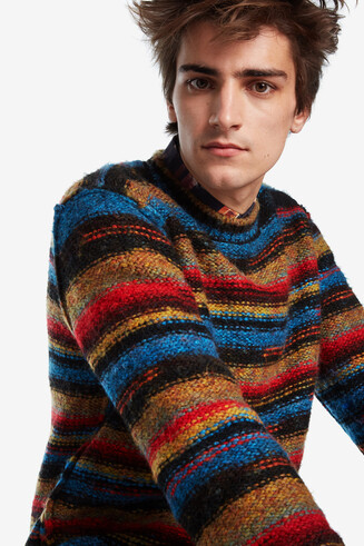 Knitted stripes jumper