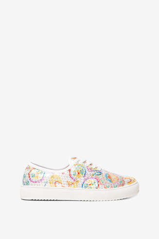 Sequinned Print Trainers Queen Skull