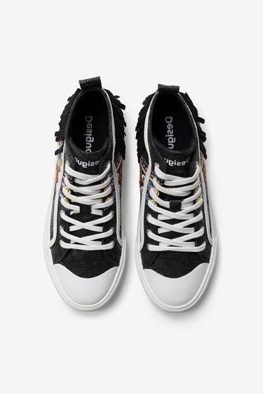 High-top sneaker fringe | Desigual