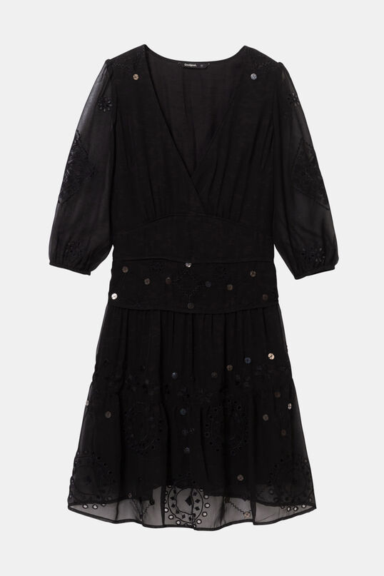 Multilayered dress tulle embroideries | Desigual