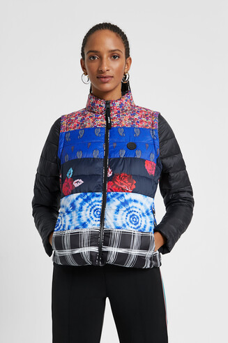 Patch prints eco padded jacket