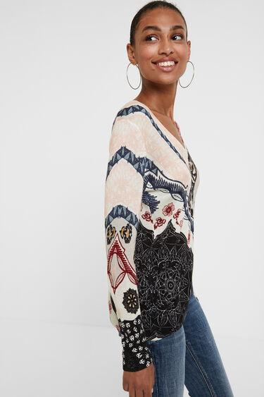 Pullover in maglia fiori | Desigual