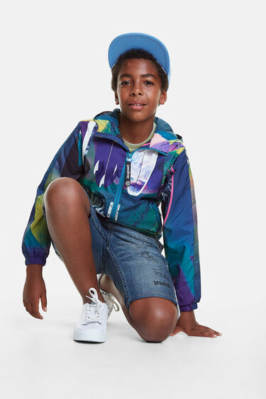 Unisex Hawaiian windbreaker jacket | Desigual