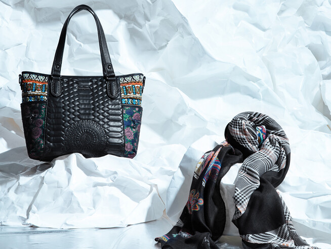 Bag and scarf set