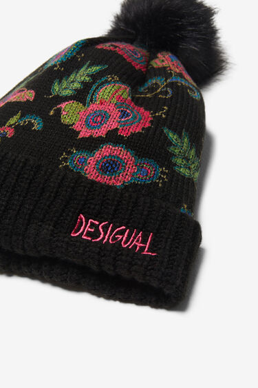 Paisley knitted hat | Desigual
