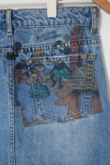 Jupe courte en jean Mickey Mouse | Desigual
