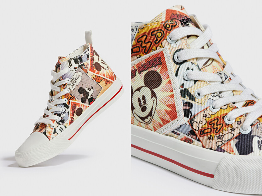 Mickey Mouse high-top sneakers