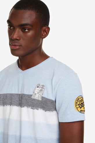 Blue Jacquard T-shirt Ris