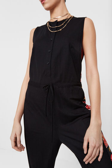 Black and floral jumpsuit | Desigual