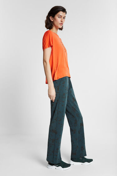 T-shirt with pleated back | Desigual