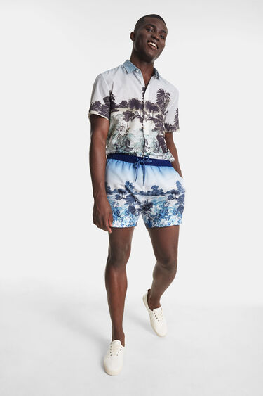 Banyador estampat Hawaii | Desigual