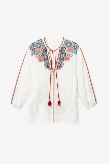 Flared viscose blouse | Desigual