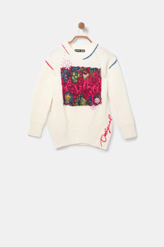 Pul·lòver tricot pegat floral | Desigual