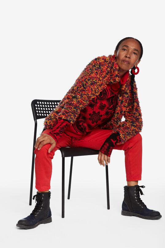 Turtleneck fringe sweater | Desigual