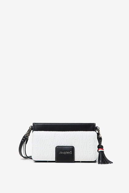 Clutch-wallet 2-in-1 with raised letters