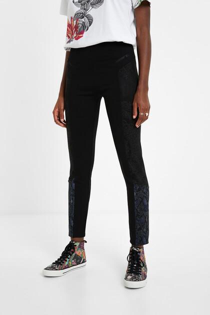 Slim animal print trousers