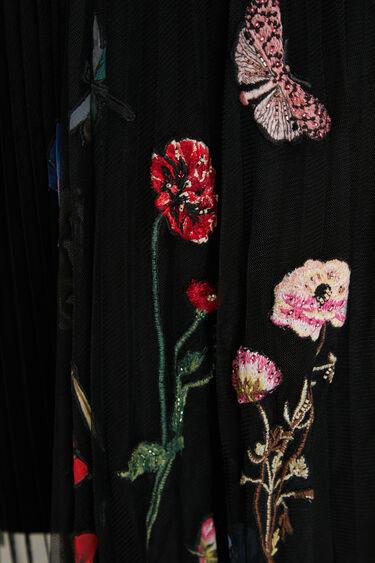 Pleated skirt tulle flowers   Desigual