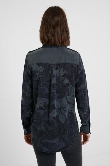 Chemise longue fleurs camouflage   Desigual