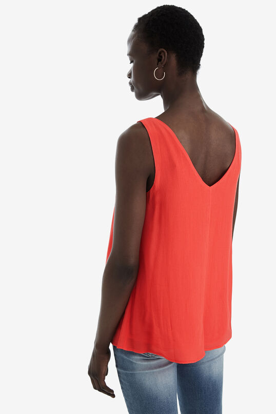 Red Vest Top Lena | Desigual