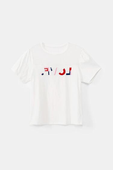 Organic LOVE T-shirt with sheer fabric | Desigual