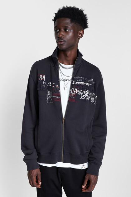 Sweatshirt met hoge kraag