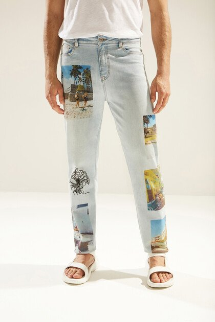 Uniseks straight fit jeans South Beach