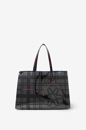 2 in 1 bag with grid and flower