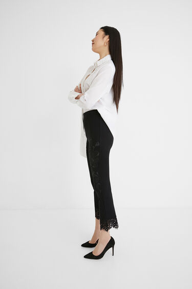 Slim lace leggings | Desigual