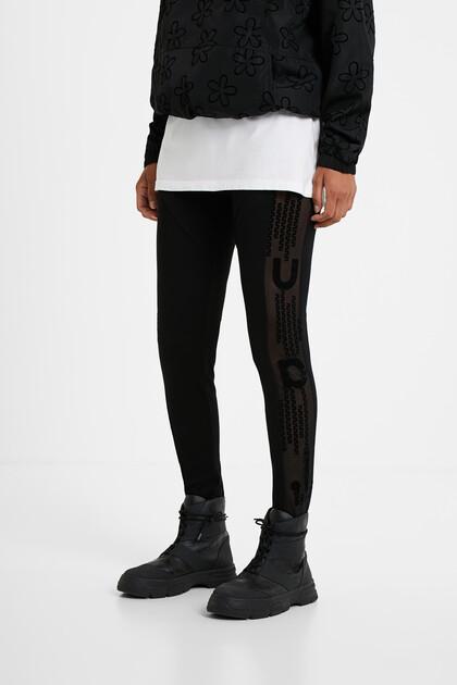Slim mesh leggings