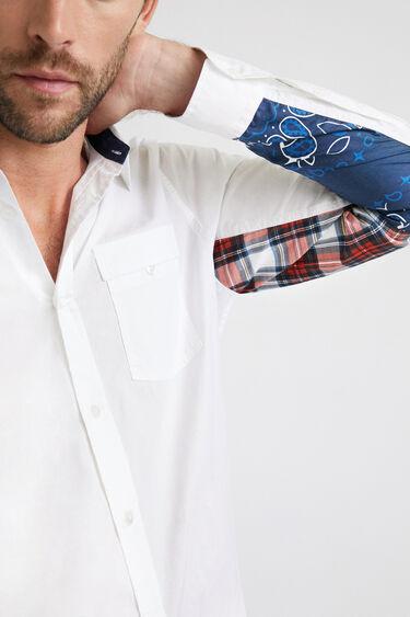 Shirt sleeves patch print | Desigual