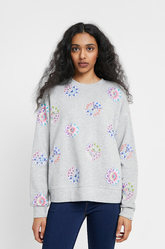 Sweatshirt mandala floral