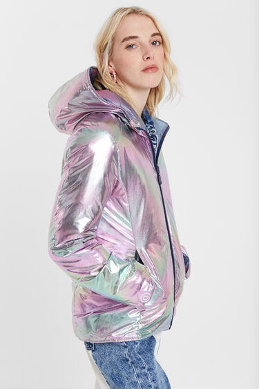 Padded reversible jacket with hood | Desigual